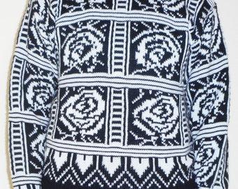 Retro Printed Sweater