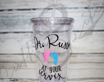 OB-GYN Gift // Personalized Tumbler // Maternity Tumbler // Pregnancy Gift // Gift for Doctor // Customized Gift // Pregnancy Doctor Gift