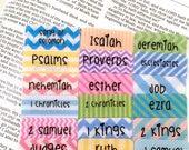 "CATHOLIC ""I Heart Rainbow Stripes"" Multicolored Books of Bible Tabs by Victoria Anderson"