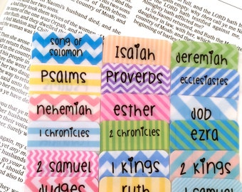 "STANDARD ""I Heart Rainbow Stripes"" Multicolored Books of Bible Tabs by Victoria Anderson"