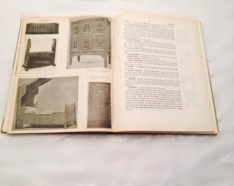 Vintage The Encyclopedia of Furniture 1945 Wartime Printing Conditions Mid Century Antique Furniture Guide