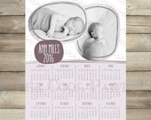 2016 calendar printable,calendar photo,8x10 Calendar template 2016