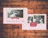 INSTANT DOWNLOAD - Valentine Photocard Template-PHOTOSHOP