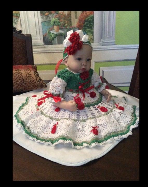 Crochet christmas dress pattern dress pattern baby dress pattern