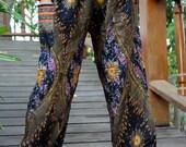 peacock pants hippie pants hobo pants harem pants unisex black