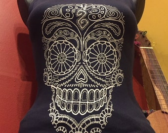 Women's Calavera Day of the dead Tank Top Skull - Dia de los Muertos Girl Shirt