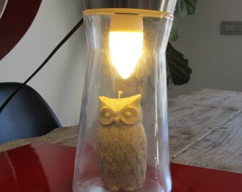 OWL lamp gray/black