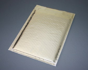 10 6x9 Silver Metallic Bubble Mailers Size 0 Self Sealing Shipping Envelopes