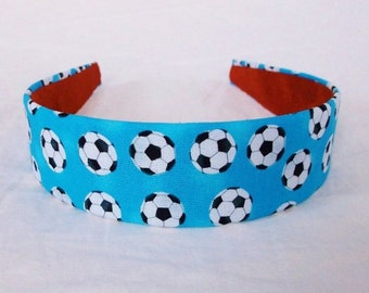 Headband in cotton fabric Soccer Sport,hair, accessories, hair bands, headband, women, headbands, bandana, fashion, women gift ideas, team