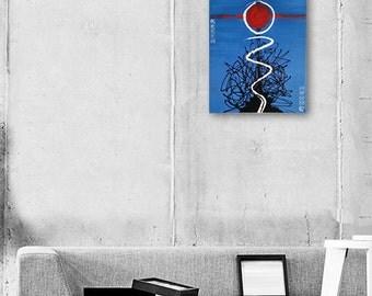 "Abstract Painting Blue Painting Blue Abstract Art Original Painting ""Catching The Sun"" fine art painting art by Michel Cekalovic"