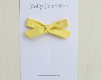 Yellow Hair Bow - Yellow Hair Clip - Girls Hair Bow