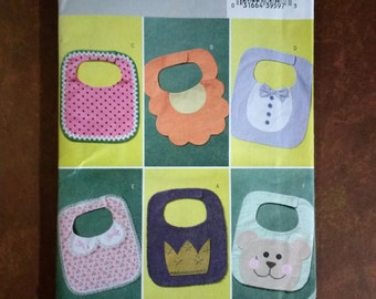 Butterick B4533 Baby Bib Patterns, Sewing Patterns for Infant Bibs