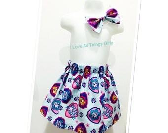 Paw Patrol Toddler Skirt, Paw Patrol, Disney Trip, Birthday, Play date,