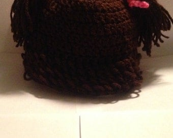 Cabbage patch baby hat.