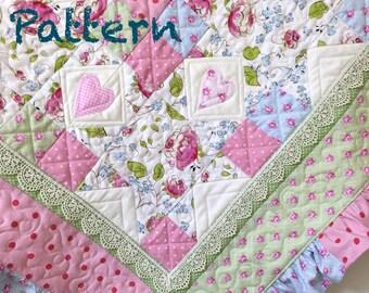 Baby quilt pattern | Etsy : baby blanket quilt patterns - Adamdwight.com