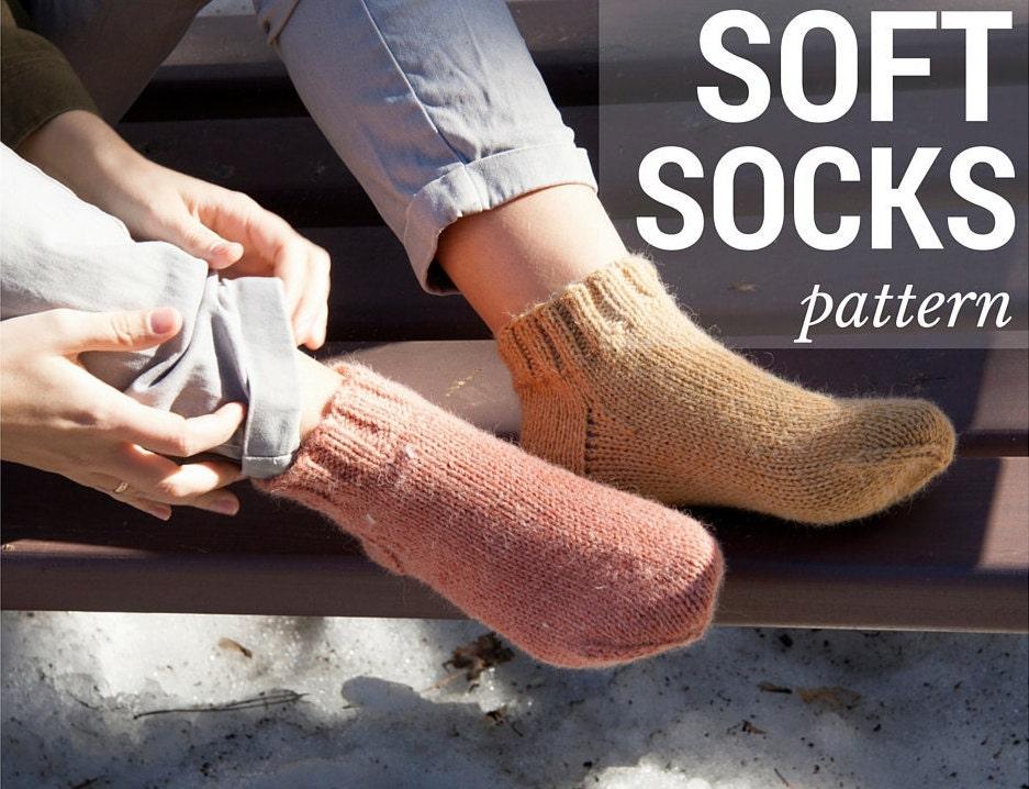 Knitting Pattern Women s Socks : Knit Sock Pattern Instant Download Womens Socks Knitting