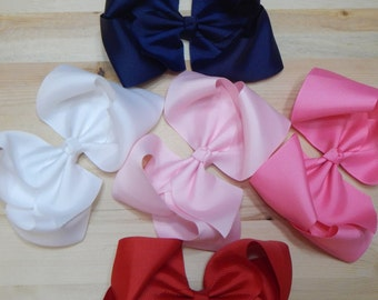 "6""Boutique Bow, White Boutique Bow, Pink Boutique Bow, Red Boutique Bow, Navy Boutique Bow"