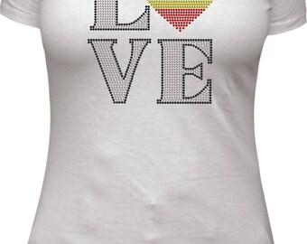 Love Belgium rhinestone tee shirt