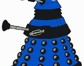 Doctor Who Dalek Embroidery Design File