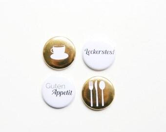 "Button set ""Good appetite"", set of 4, gold"
