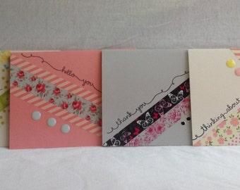 Washi Tape Handmade Note cards