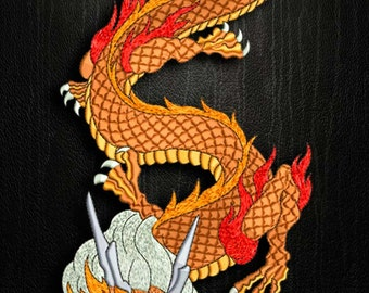 Evil Dragon embroidery design