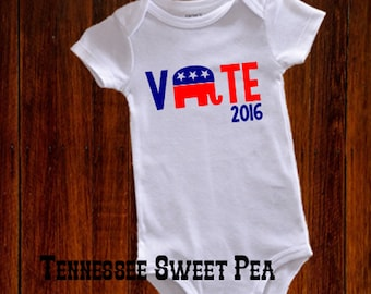 Rebuplican Bodysuit, 2016 Presidential Election Baby Bodysuit, Campaign 2016, Republican, Vote in 2016, Election Day, Campaign Trail
