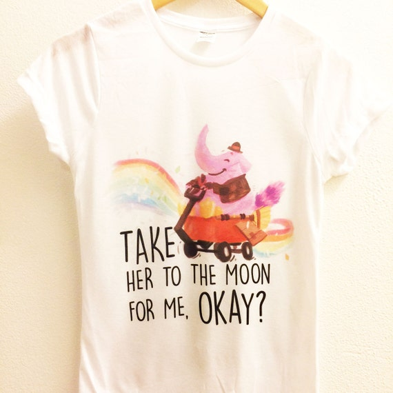 take her to the moon for me okay shirt bing bong inside. Black Bedroom Furniture Sets. Home Design Ideas