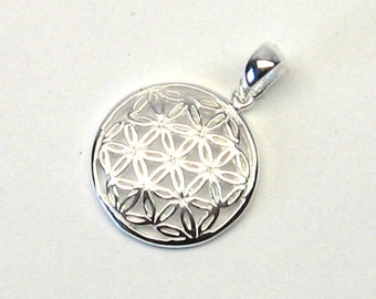 Sweet flower of life pendant Sterling Silver 925