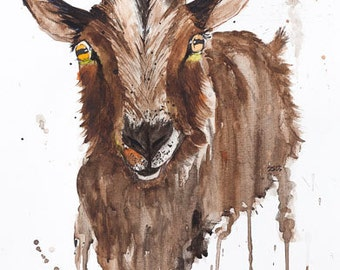 Billy Goat, 297 x 420 mm (A3)
