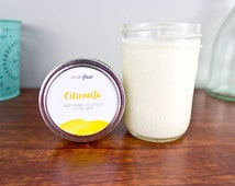 CITRONELLA Soy Candle in Half Pint Mason Jar, Citronella Candle, Wood Wick Candle, Summer Candle, Mason Jar Candle, Insect Repellent