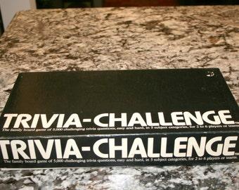 1983 Trivia-Challenge//Benchmark Enterprises Ltd//Board Game//Vintage Game