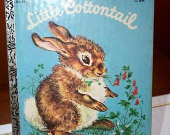1960 Little Cottontail//By Carl Memling//Little Golden Book//Vintage Children's Book