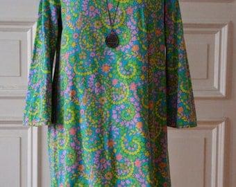 Vintage 1960s A-line Mini Dress