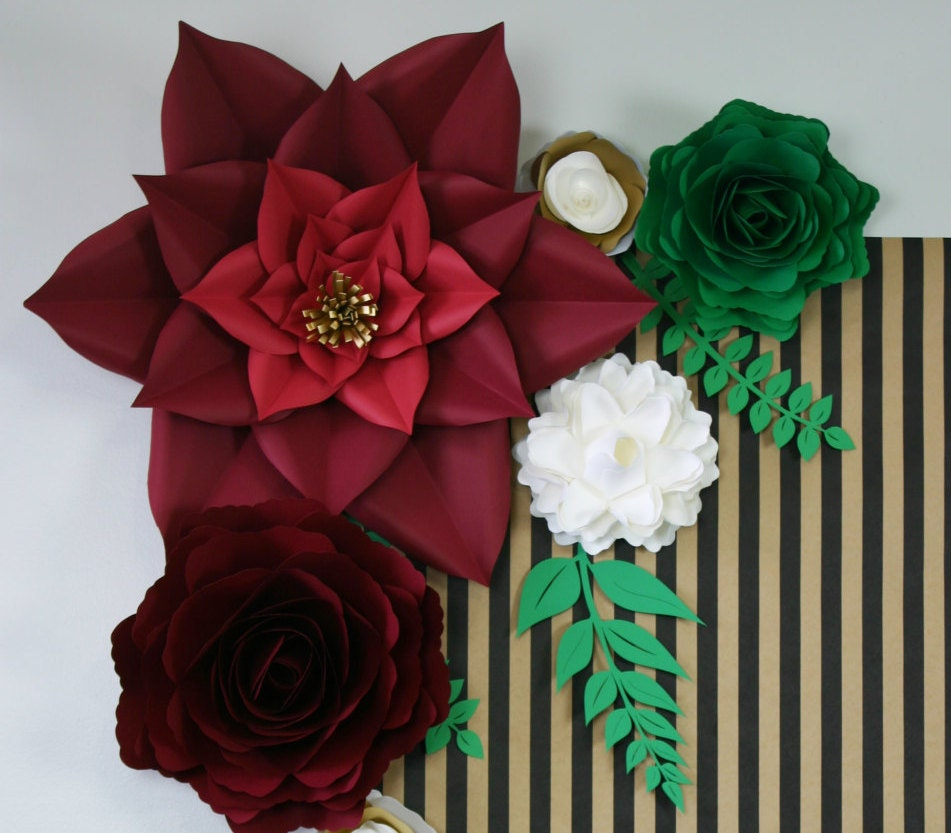 Diy Paper Flowers Wedding Arch: Paper Flower Backdrop / Giant Paper Flowers Wall / Paper