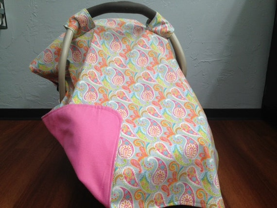 orange paisley car seat canopy. Black Bedroom Furniture Sets. Home Design Ideas