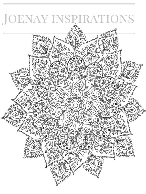 Adult Coloring Book, Printable Coloring Pages, Coloring Pages, Coloring Book for Adults, Instant Download, Magnificent Mandalas 1 page 1