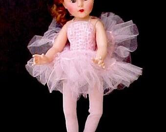 Darling 1950's Ballerina Doll in Her Original Ballet Costume-Nina Ballerina