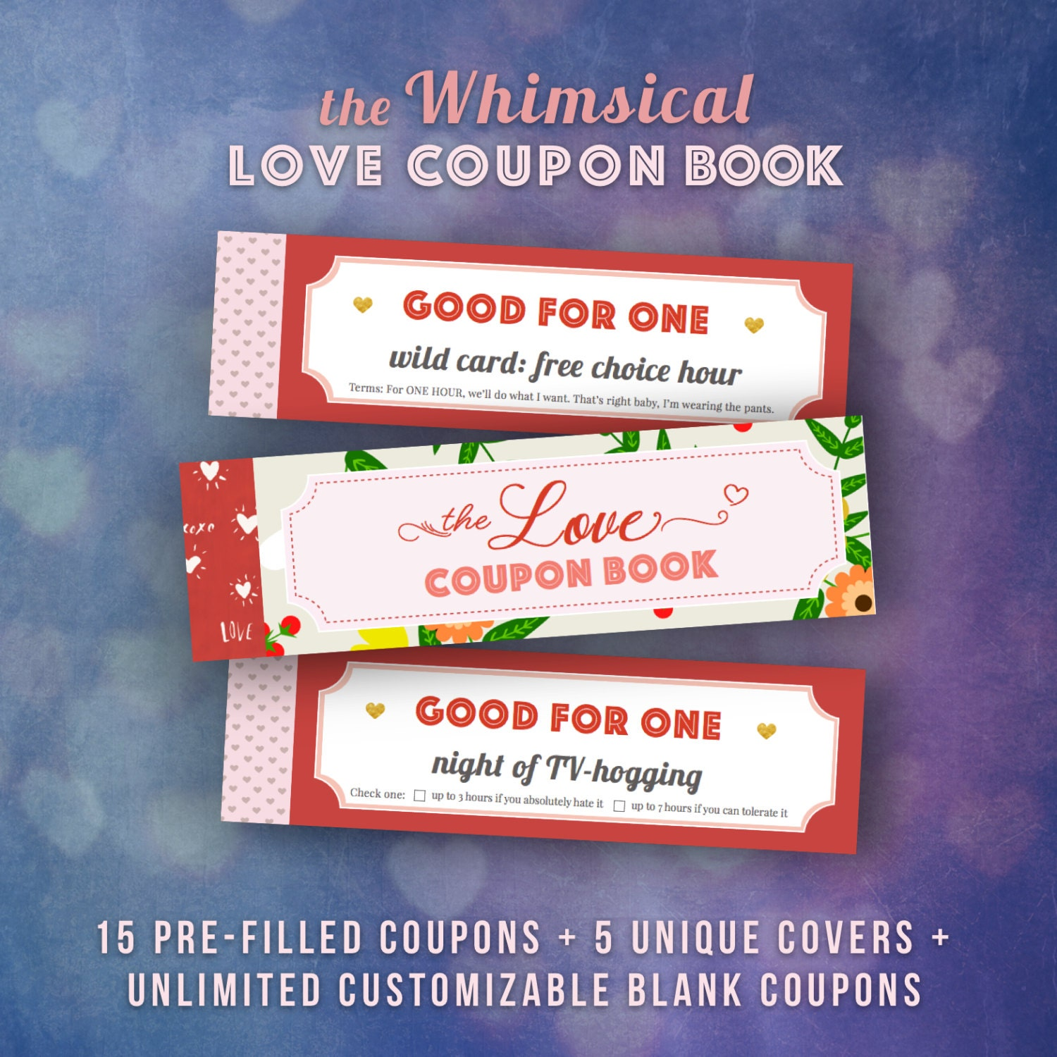 Funny coupon book for boyfriend