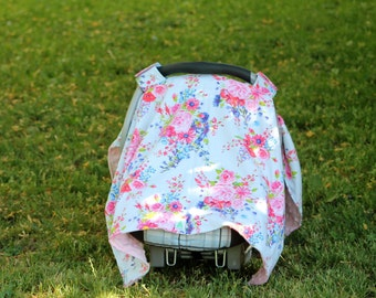 Girl Car Seat Canopy Cover, Baby Shower Gift, New Mom Gift