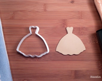 Princess Wedding Dress Cookie Cutter. Wedding Cookie Cutter. 3D Printed. Princess Baby Shower. Baking Gifts. Dress Cookie Cutter.