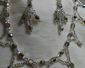 All crystal necklace set
