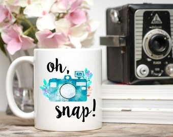 Oh Snap!, Oh Snap Mug, Funny Photography Mug,  Photog Gift,  Camera Mug, Camera Gift, Photography Mugs, Newborn Photographer, Photography