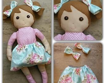 Cute handmade fabric doll