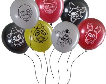21 FNAF Five Nights at Freddy's Birthday Balloons - 7 of kids most favorite characters!