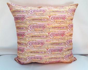 Vintage Swirl Fabric Pillow