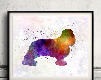 Cavalier King Charles Spaniel 01 in watercolor - Fine Art Print Glicee Poster Decor Home Watercolor Gift Illustration Dog - SKU 0239
