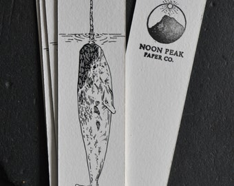 Boat and Narwhal Bookmark