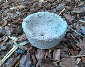 HyperTufa Small Circular Flower Pot