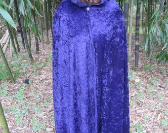 Purple Handmade Ceremonial Gothic Cloak